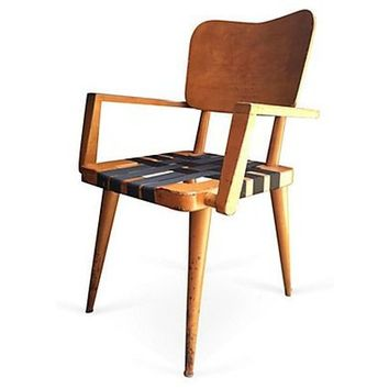 Mid-Century Jens Risom Style Arm Chair