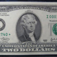 USA 2003 Two Dollar Star Note Low  Serial Numbers Crisp Au Condition Star Note