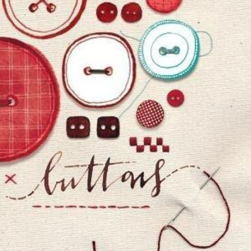 Buttons Print 85 x 11 by evajuliet on Etsy