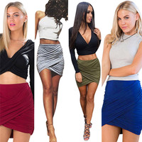 Sanwony New Fashion Women High Waist Skirts Sexy Bandage Bodycon Pencil Skirt Size S M L