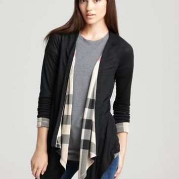 Burberry Brit Waterfall Reversible Cardigan | Bloomingdales's