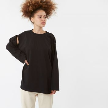 MM6 L/S Jersey T-Shirt - Black