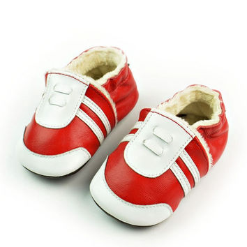 Casual Hot Deal Stylish Comfort On Sale Hot Sale Leather Shoes Handcrafts Environmental Baby Red Sneakers [4919349956]