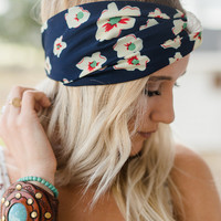 Duo Floral + Crochet Turban