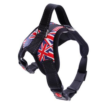 Nylon Dog Harness Vest Reflective Tape Breathable Mesh Pet Dogs Leash Harness Pet Products MYDING