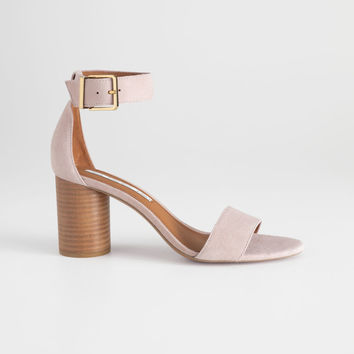 Square Buckle Heeled Sandals - Dusty Pink - Sandalettes - & Other Stories US