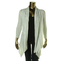 INC Womens Open Front 3/4 Sleeves Cardigan Top