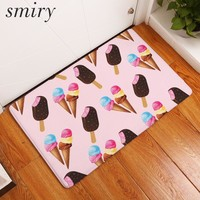 Autumn Fall welcome door mat doormat Smiry 40*60cm flannel in front of s colorful cool summer ice cream mats dustproof bedroom bedside foot pads home decor AT_76_7