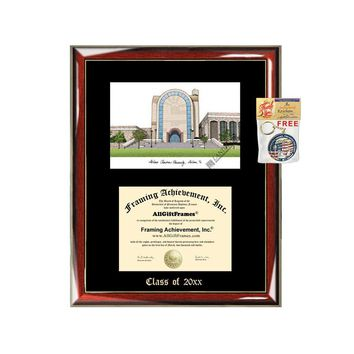 Abilene Christian University ACU Graduation Custom Frame Emboss Lithograph Diploma Degree Framing Embossed Bachelor MBA Master PHD Certificate Framing