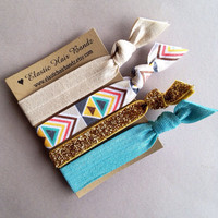 The Emma Hair Tie-Ponytail Holder Collection by Elastic Hair Bandz on Etsy