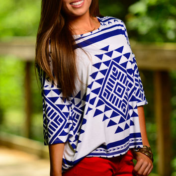 Southwestern Top, Blue