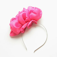55% off Rose headband in pink- Ready to Ship- Christmas Sale