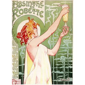 Absinthe Robette Vintage Liquor Ad Art poster Metal Sign Wall Art 8in x 12in