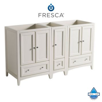 "Fresca Oxford 60"" Traditional Double Sink Bathroom Cabinets"