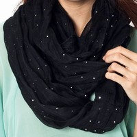 sequined-infinity-scarf BLACK BLUSH TAUPE - GoJane.com
