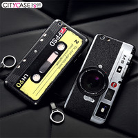 CITYCASE For iPhone 6s Case 3D Camera Tape Phone Cases For IPhone 6 6s Plus Retro Style Soft Edge Anti-drop Coque For iPhone 6s
