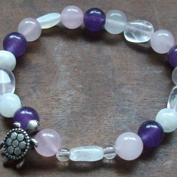 Fertility bracelet with Turtle Charm for Conception and Healthy Pregnancy