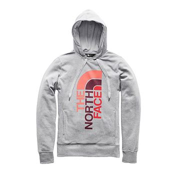 Women's Trivert Pullover Hoodie in TNF Light Grey Heather & Fig Multi by The North Face