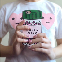 3D Silicon Case Rubber cover For iphone 6 6s 6 plus 6s plus Chill pills and love potion