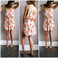 A Lovely Neon Floral Sundress