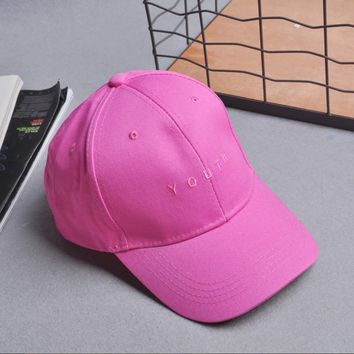 2017 Women Men Summer Spring Cotton Caps Women Letter Solid Adult baseball Cap Black White men Hat Snapback Women Cap
