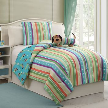Victoria Classics Pup 3-pc. Reversible Comforter Set (Blue)