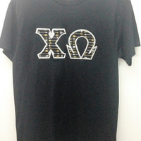 Chi Omega Sorority Small T Shirt with Greek Letters -- Ready to Ship!