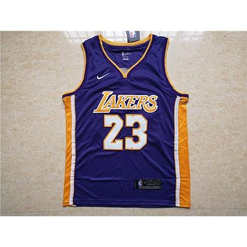 La Lakers #23 Lebron James Purple Basketball Jersey | Best Deal Online