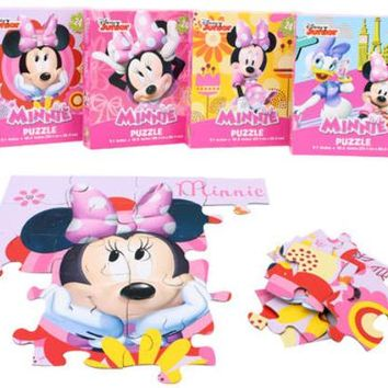 """10.37"""" assorted disney minnie mouse puzzle Case of 120"""