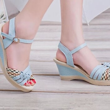 Isabell Woven Wedges