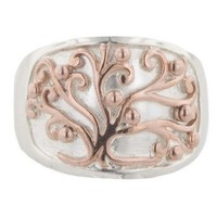 Southern Gates Sterling Silver Size 7 Ring with Copper Accents