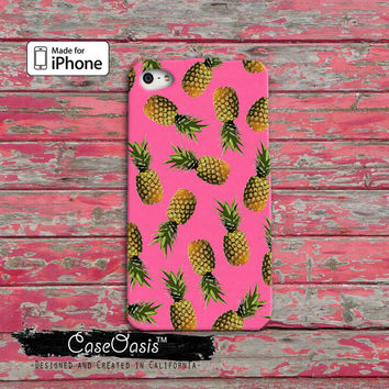 Pineapple Pattern Pink Cute Summer Tumblr iPhone 4 and 4s Case and iPhone 5 and 5s and 5c Case and Wallet Case and iPhone 6 and 6 Plus Case