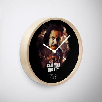'Can You Dig It - JOHN SHAFT' Clock by Naumovski