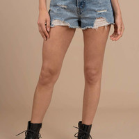 Adams Mid Rise 2-Tone Shorts