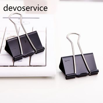Metal Binder Clips Paper Clip 32mm Office Learning Supplies  Office Stationery Binding Supplies Files Documents clips