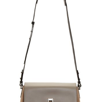 Proenza Schouler Dark Sand Grained Leather And Suede Elliot Bag