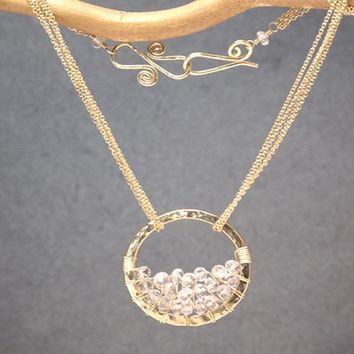 Necklace 271 - choice of stone - Gold