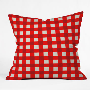 Holli Zollinger Red Gingham Throw Pillow