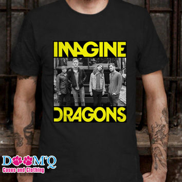 Imagine Dragons Black T-Shirt By : Doomqcases Men's T-Shirt S, M, L, XL