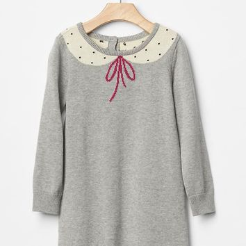 Gap Baby Intarsia Collar Sweater Dress