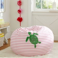 Sea Turtle Sea Breeze Stripe Beanbag