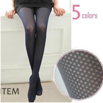 W775 Free Shipping Candy colors Velvet Tight Stirrup Pantyhose Stockings Women Skeleton multi 6 colours