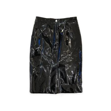 Marc Jacobs Black Patent Leather Skirt