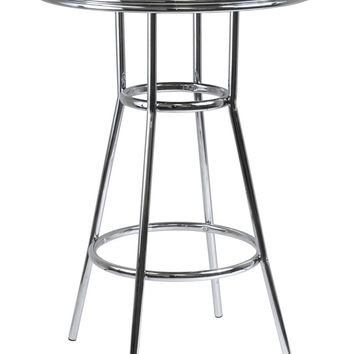 """Round Steel Legged Modern Retro Summit 30"""" Pub Table by Winsome Woods"""