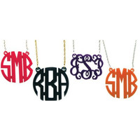 Small Acrylic Monogram Necklace