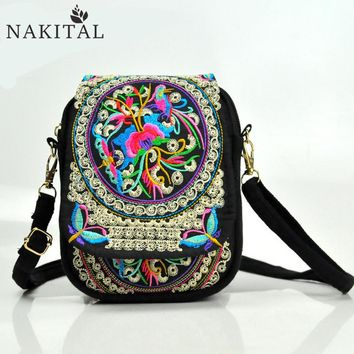 Boho bags Women Handbags 2017 Shoulder Messenge Flowers Vintage Hippie Famous Designer Brand Nakital Embroidered Bag