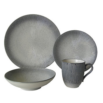 Red Vanilla Atelier Taupe 16-piece Dinner Set | Overstock.com Shopping - The Best Deals on Casual Dinnerware