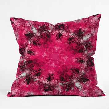 Caleb Troy Electric Pink Whirlpool Throw Pillow