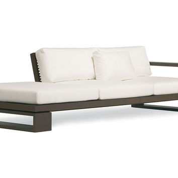 "Janus et Cie, Landscape 121"" Modular Daybed, White, Acrylic / Lucite, Outdoor Daybeds"