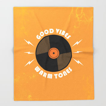Good Vibes and Warm Tones Throw Blanket by Anthony Troester